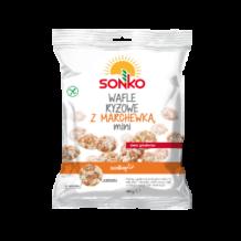 Wafle ryżowe mini z marchewką Sonko