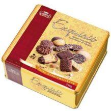Ciasteczka Exquisit w kartonowym pudełku lub eleganckiej puszce