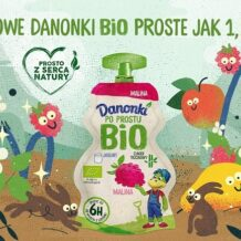 Nowe Danonki Bio o smakach maliny i gruszki