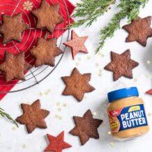 Orzechowe gwiazdki z masłem orzechowym Sante crunchy